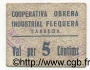 5 Centims ESPAGNE TarregaTarragona 1936 C.586d TTB