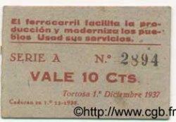 10 Centims ESPAGNE Tortosa 1937 C.619b TTB+