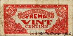 20 Centims ESPAGNE Tremp 1937 C.624b TB