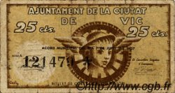25 Centims ESPAGNE Vic 1937 C.646 TB à TTB