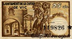 25 Centims ESPAGNE Vic 1937 C.646 SUP