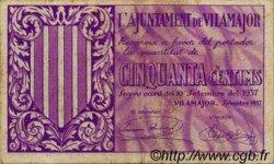 50 Centims ESPAGNE Vilamajor 1937 C.663a TTB