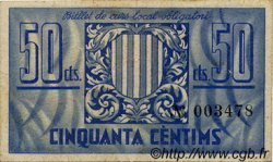 50 Centims ESPAGNE  1937 C.663a TTB