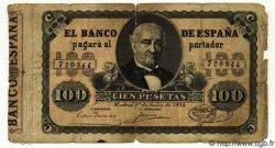 100 Pesetas ESPAGNE  1884 P.031 B+ à TB