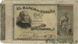 50 Pesetas ESPAGNE  1893 P.043 TB