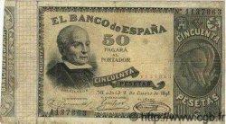 50 Pesetas ESPAGNE  1898 P.047 pr.TB