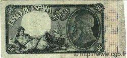 50 Pesetas ESPAGNE  1899 P.050 TTB+