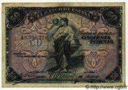 50 Pesetas ESPAGNE  1906 P.058a TB+