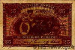 25 Pesetas ESPAGNE  1907 P.062a pr.TTB