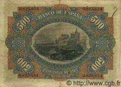 500 Pesetas ESPAGNE  1907 P.065 pr.TTB