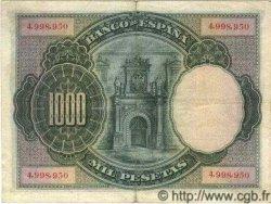 1000 Pesetas ESPAGNE  1925 P.070c TTB+