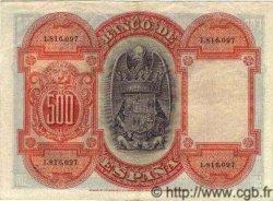 500 Pesetas ESPAGNE  1927 P.073c SUP+
