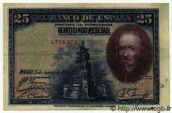 25 Pesetas ESPAGNE  1928 P.074a TTB