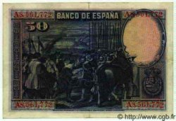 50 Pesetas ESPAGNE  1928 P.075a SUP