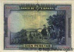 100 Pesetas ESPAGNE  1928 P.076a SUP