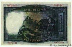100 Pesetas ESPAGNE  1931 P.083 TTB à SUP
