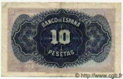 10 Pesetas ESPAGNE  1935 P.086a pr.SUP