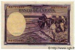 25 Pesetas ESPAGNE  1936 P.087b