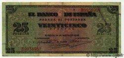 25 Pesetas ESPAGNE  1938 P.111