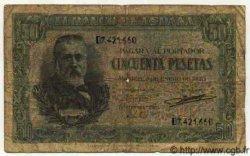 50 Pesetas ESPAGNE  1940 P.117