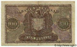 100 Pesetas ESPAGNE  1940 P.118 TTB