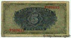 5 Pesetas ESPAGNE  1940 P.123a pr.TB