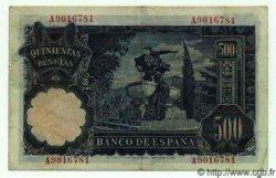 500 Pesetas ESPAGNE  1951 P.142a TTB