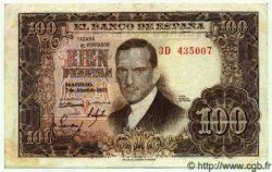 100 Pesetas ESPAGNE  1953 P.145 TB+