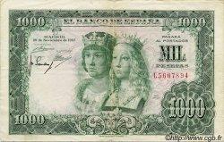 1000 Pesetas ESPAGNE  1957 P.149a