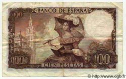 100 Pesetas ESPAGNE  1965 P.150 TTB