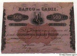 500 Reales De Vellon ESPAGNE  1863 PS.293 SUP+
