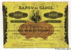1000 Reales De Vellon ESPAGNE  1863 PS.294 SUP+