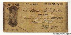 25 Pesetas ESPAGNE Bilbao 1936 PS.552i TB+