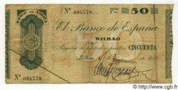 50 Pesetas ESPAGNE Bilbao 1936 PS.553i TB+
