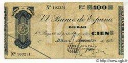 100 Pesetas ESPAGNE Bilbao 1936 PS.554b pr.TTB