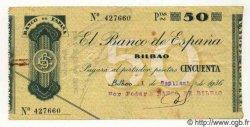 50 Pesetas ESPAGNE  1936 PS.553a TTB