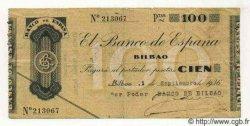 100 Pesetas ESPAGNE Bilbao 1936 PS.554a TTB