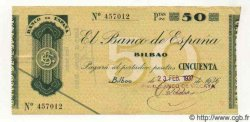 50 Pesetas ESPAGNE Bilbao 1937 PS.553f TTB à SUP