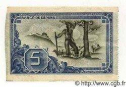 5 Pesetas ESPAGNE  1937 P.S561(f)