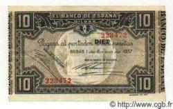 10 Pesetas ESPAGNE Bilbao 1937 PS.562(f) TTB