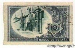 10 Pesetas ESPAGNE  1937 PS.562(f) TTB