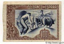 100 Pesetas ESPAGNE  1937 PS.565(f) TTB