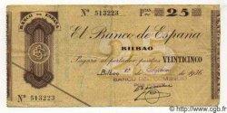 25 Pesetas ESPAGNE Bilbao 1936 PS.552c TB à TTB