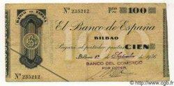 100 Pesetas ESPAGNE Bilbao 1936 PS.554b TTB