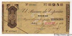 25 Pesetas ESPAGNE Bilbao 1936 PS.552c TTB
