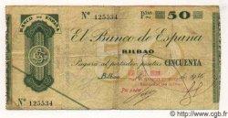 50 Pesetas ESPAGNE Bilbao 1936 PS.553c TB à TTB