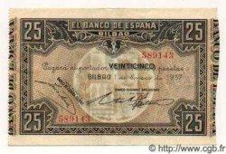 25 Pesetas ESPAGNE  1937 PS.563(d) SUP+