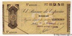 25 Pesetas ESPAGNE  1936 PS.552h pr.TTB