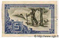 5 Pesetas ESPAGNE  1937 PS.561(g) TTB+