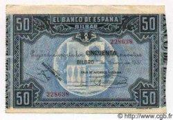 50 Pesetas ESPAGNE Bilbao 1937 PS.564g SUP+